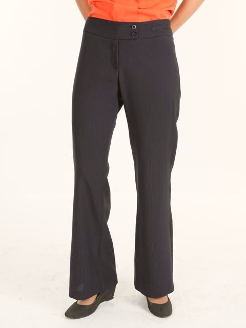 Ladies Low Rise Pant - Charcoal Stripe