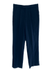 Men's Single Pleat Wool Trouser - Navy Stripe