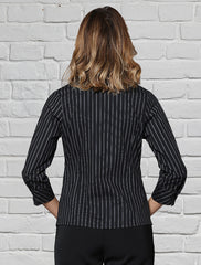 Ladies Black Stripe Blouse