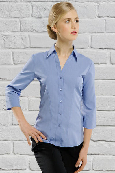 Ladies Lilac 3/4 Sleeve Blouse