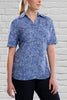 Ladies Blue Print Blouse