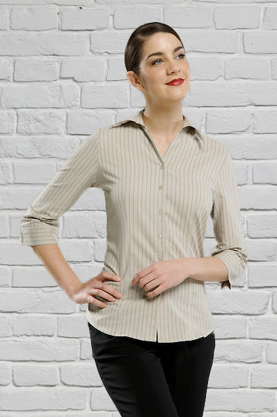Stone Striped Sleeve Blouse for Ladies