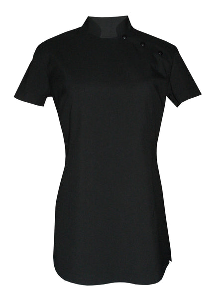 Black Short Sleeve Beauty Tunic