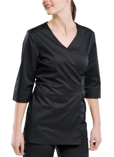 DL22 Ladies Wrap Tunic - Black