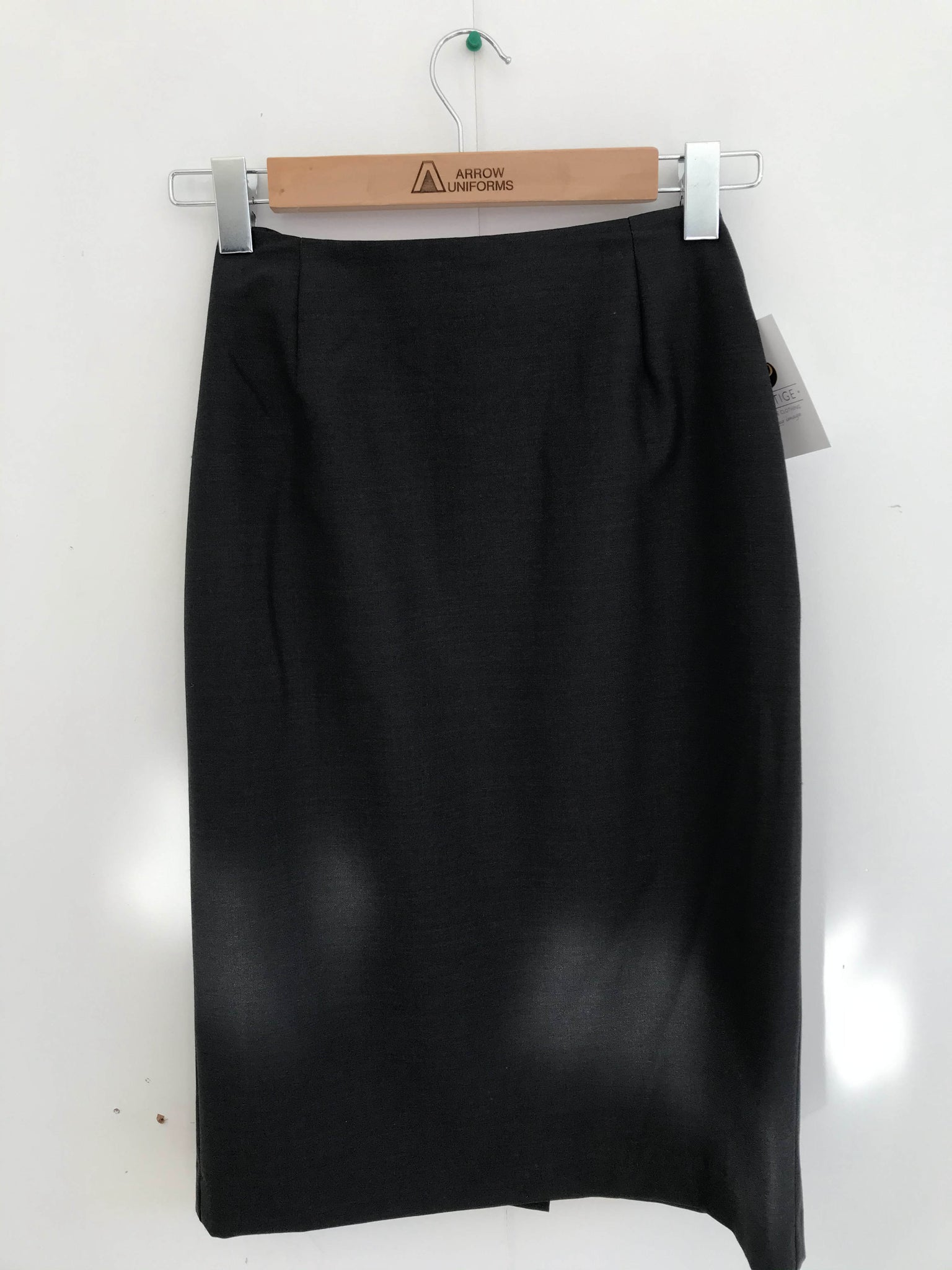 Side Split Ladies Skirt - Charcoal