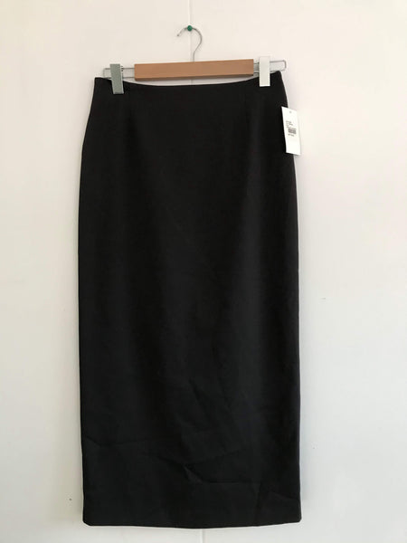 Ladies Long No Waistband Charcoal Skirt
