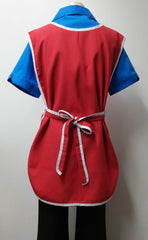 AQ21X Popover Apron in Red/White