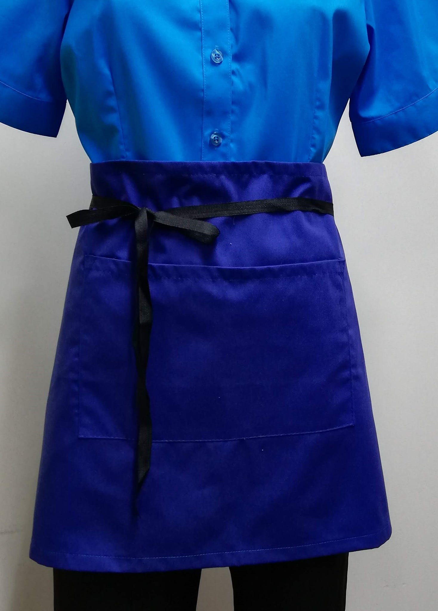 AS11 Brasserie Apron with Pocket -Royal