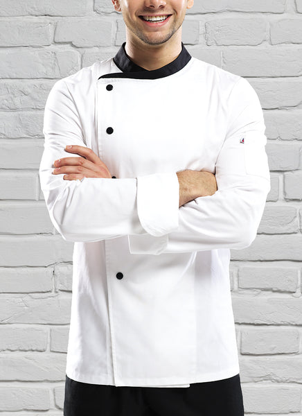 Crossover Chef Jacket White/Black