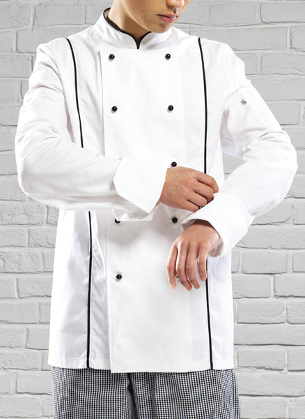 Royale Chefs Jacket White/Black
