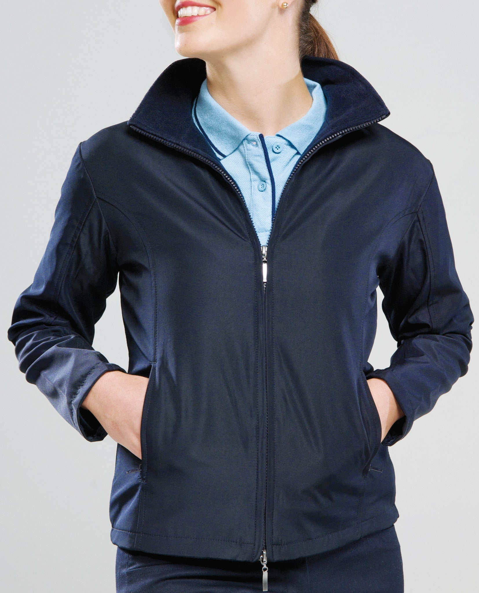 Womens Club Reversible Navy Jacket
