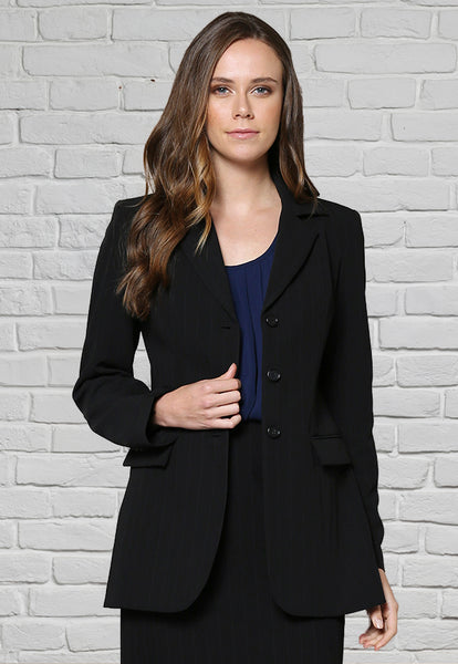 JK1000 Ladies 3 Button Jacket Black