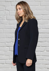 Ladies 3 Button Jacket Navy