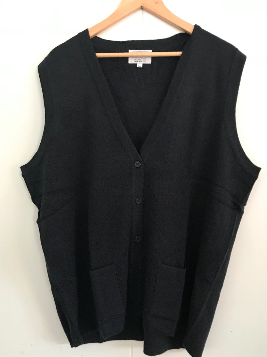 Sleeveless Cardigan - Navy