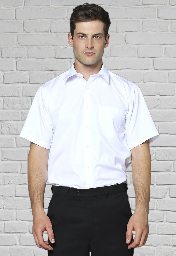 Mens White Shirt - Short Sleeves