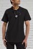 Black Unisex Scrub Top