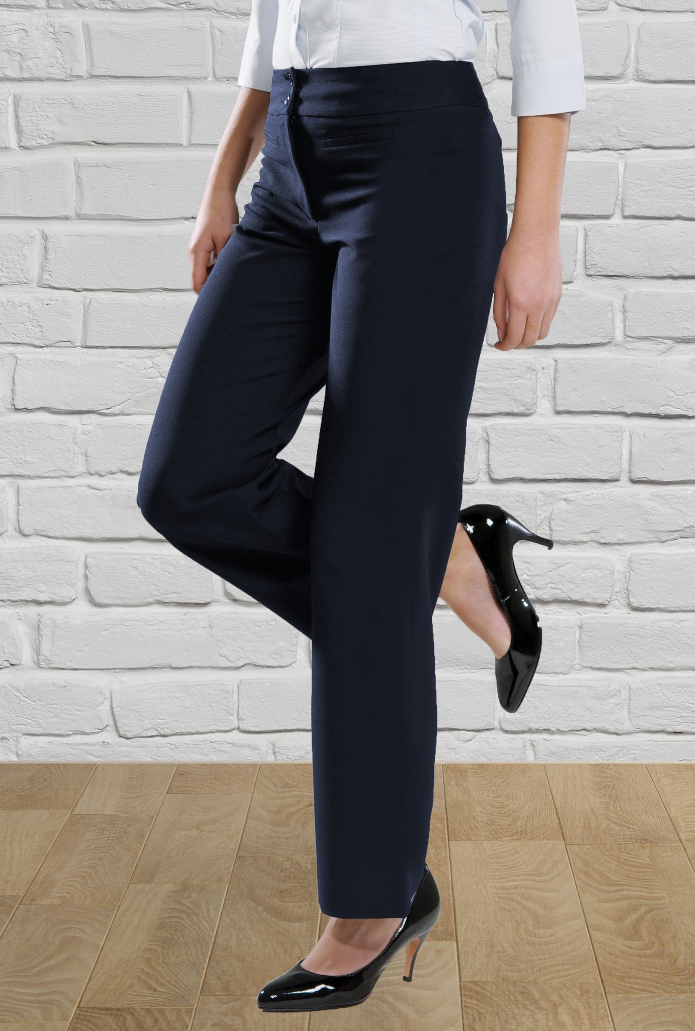 Ladies 'Chloe' Navy Trouser