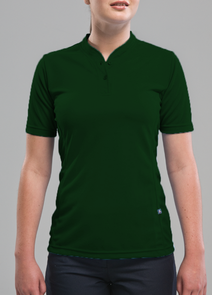 Forest Green Rugby Polo for Ladies