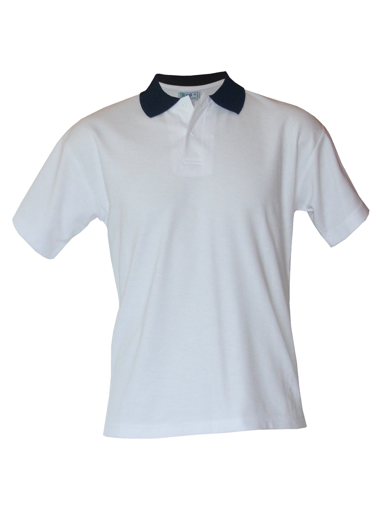 White/Navy Contrast Polo