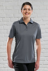 Ladies Charcoal/Black Polo Shirt