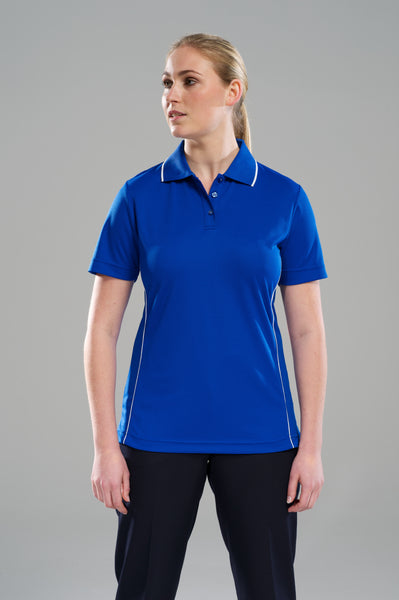 Royal/White Ladies Polo Shirt
