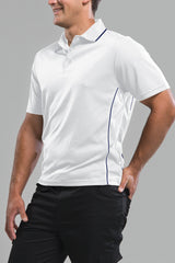 Men's White/Navy Polo Shirt