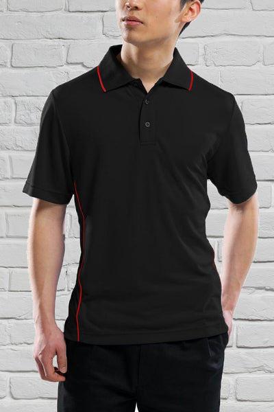 Men's Black/Red Polo Shirt
