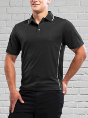 Men's Charcoal/Black Polo Shirt