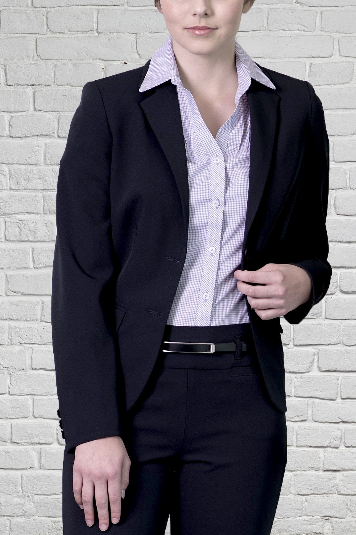 Ladies Black 2 Button Jacket