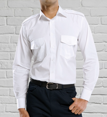 Men's Long Sleeve Epaulette Shirt
