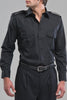 Black Epaulette Shirt