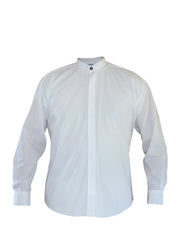 Mandarin Collar Shirt White