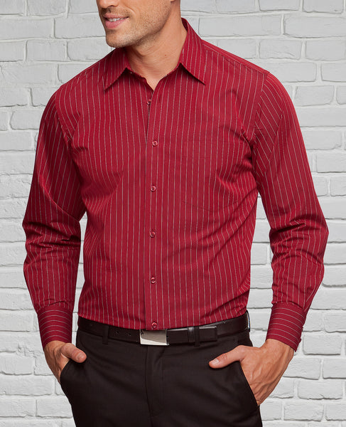 Men's Red/White Striped Shirt
