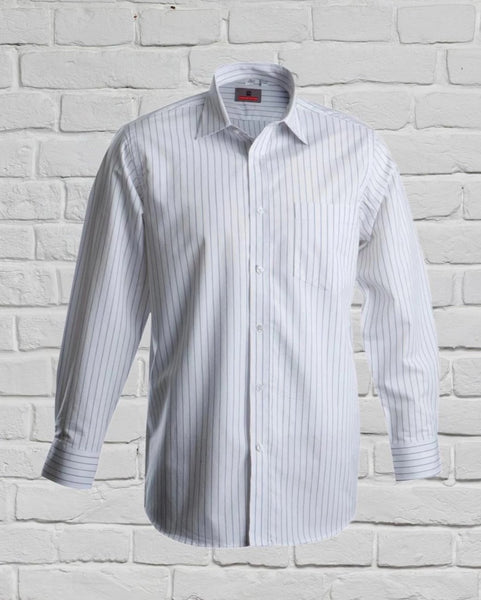 Men's White Striped Shirt