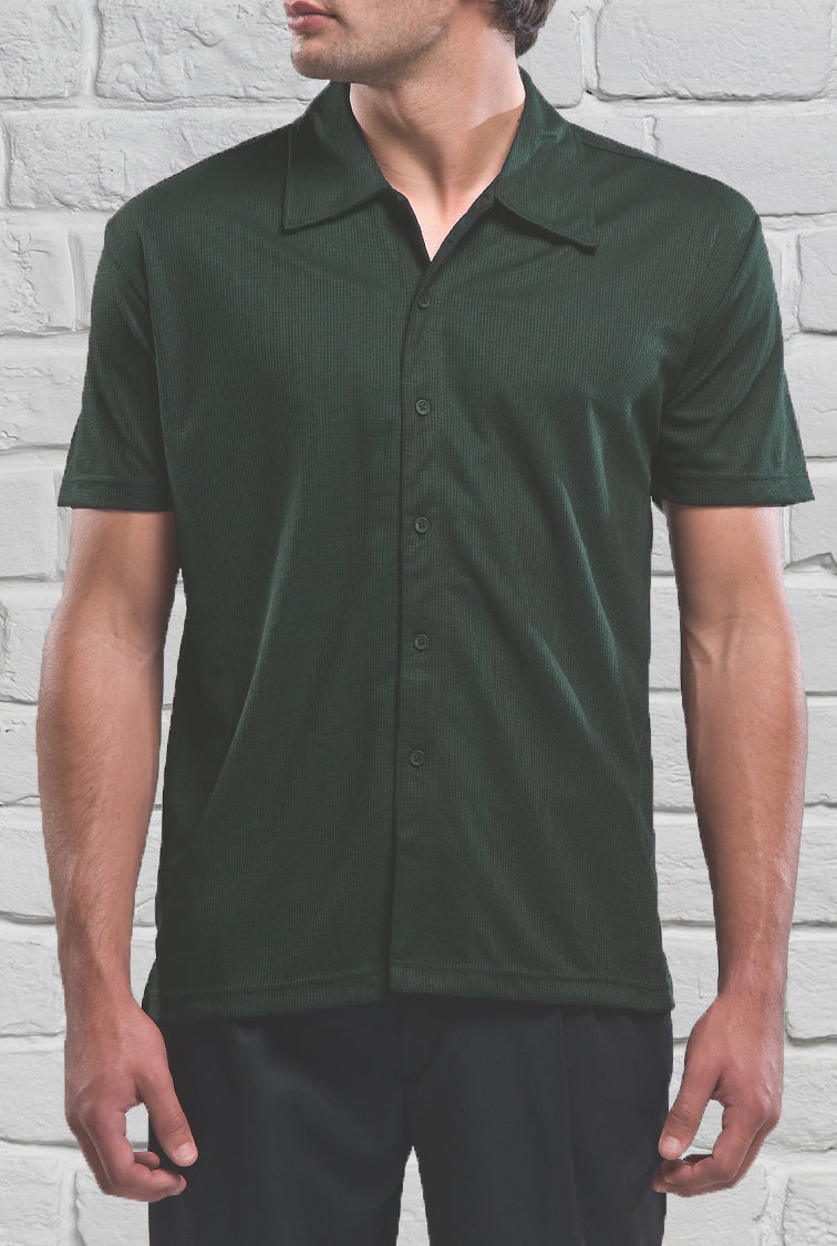 Dark Green Men's Shirt