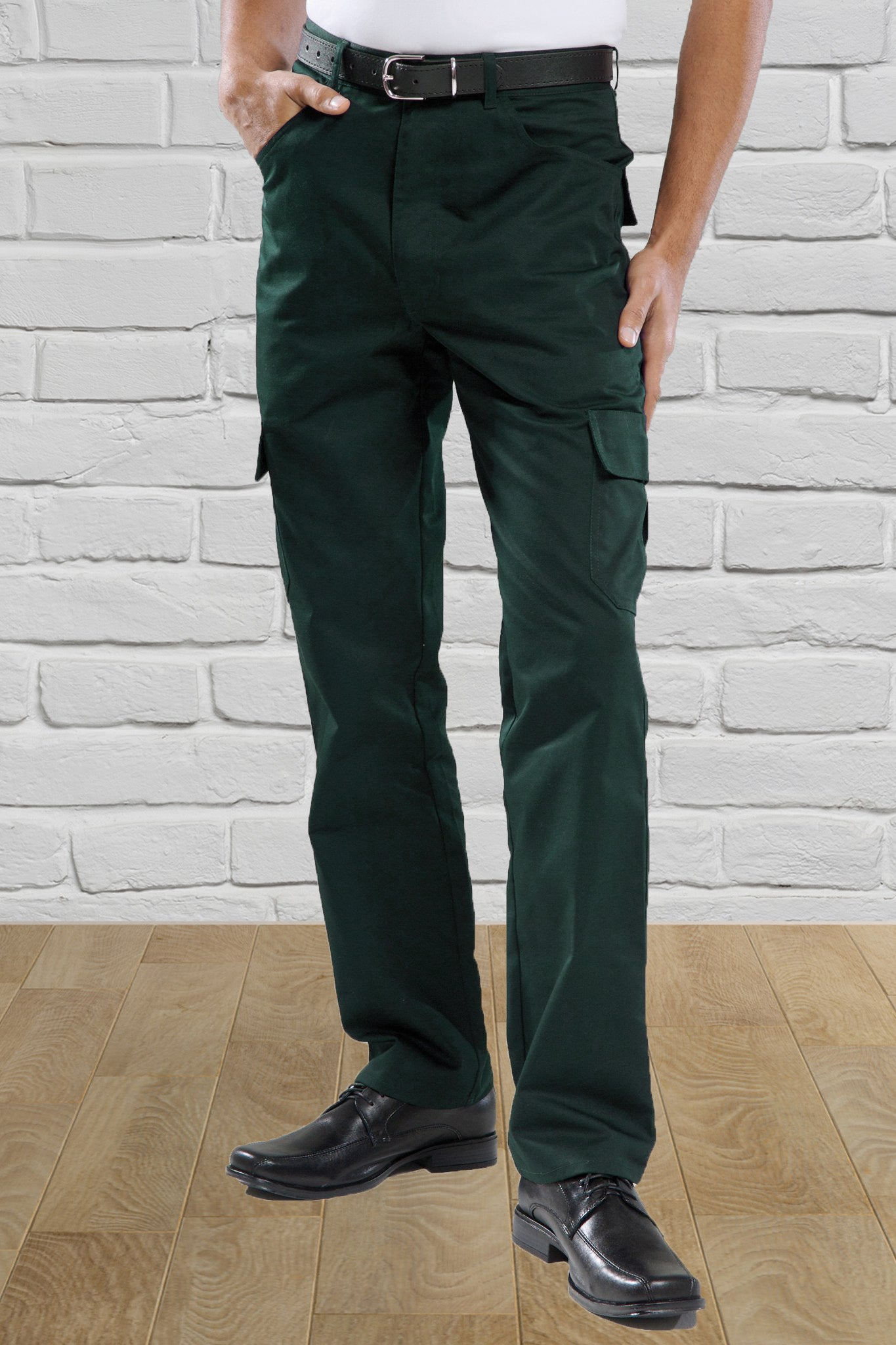 Forest Green Cargo Trousers