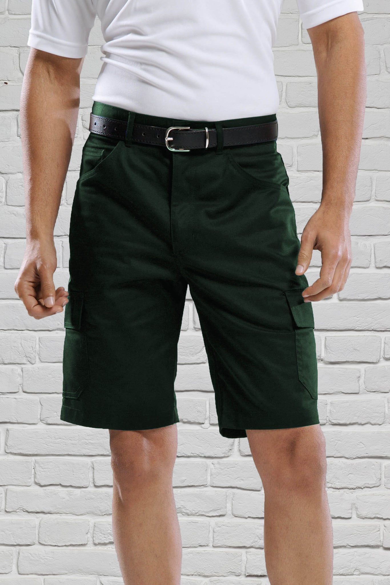 Forest Green Cargo Shorts