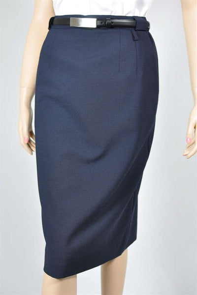 Ladies Easyfit Navy Skirt