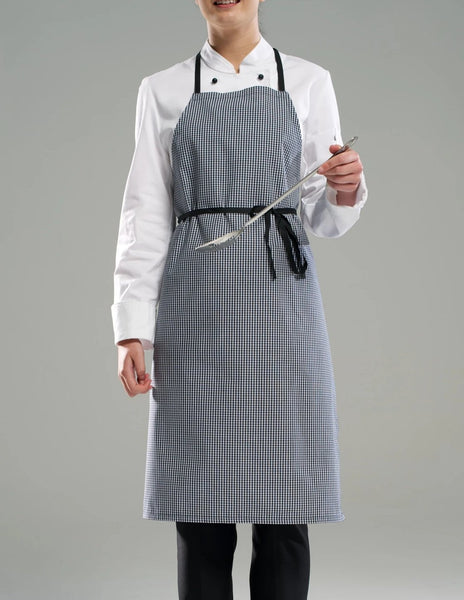 Bib Apron - Black/White Check