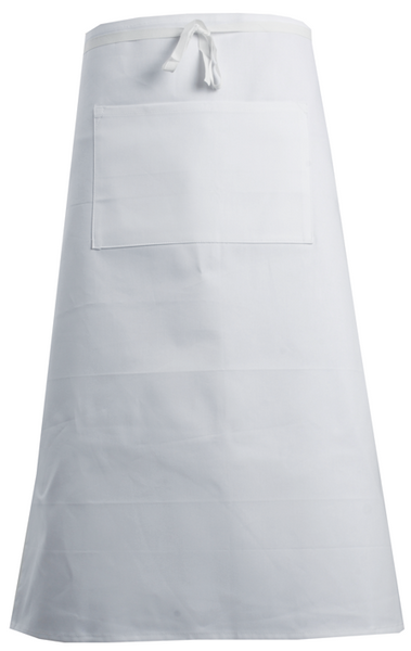 AC00P Waist Apron 100% Cotton -White