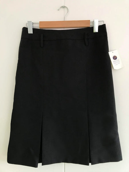 Ladies Kick Pleat Black Skirt