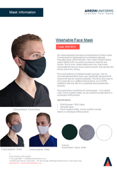 NZ MADE Petite/Kids Washable Face Mask