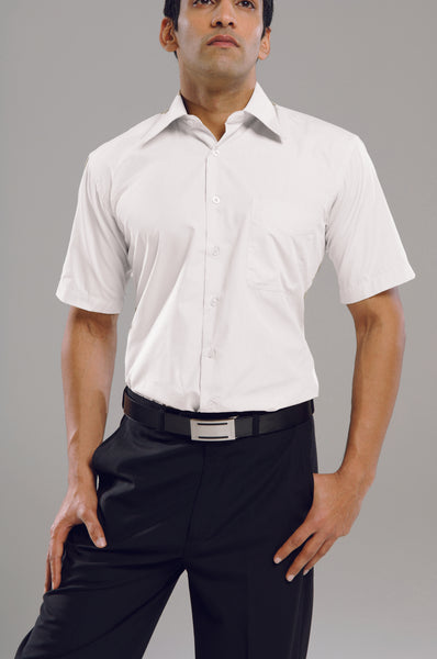 Standard Fit Short Sleeve White Shirt