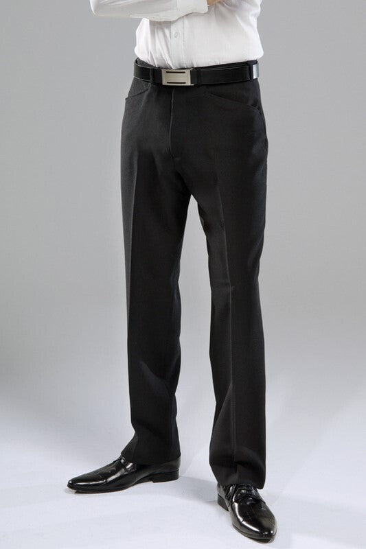Huntington Flat Front Trouser - Black