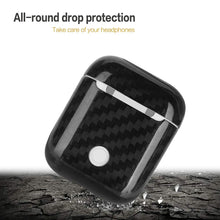 Real Carbon Fiber Fitted Case Protector for Apple AirPods Earphone