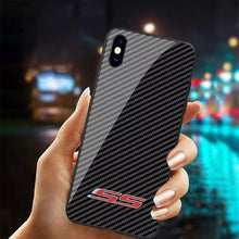 SS Tempered Glass Carbon Fiber Style Case for iPhone 11 Pro Pro Max XR XS XS Max X 8 7 6 Samsung Galaxy S10 S9 S8 Note 9 8