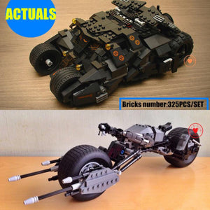 Batman Tumbler and Batpod Building Block Kits
