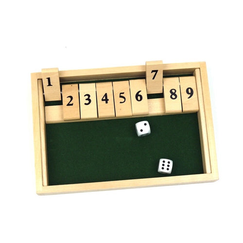 Shut The Box Number Drinking Board Game 2 Players