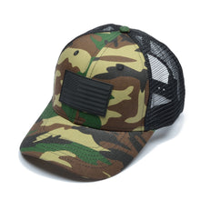 Camo Trucker Cap Tactical USA Flag
