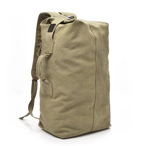 Stylish Canvas Backpack Duffel Bag